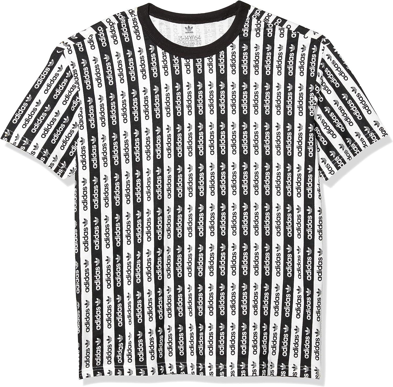 adidas Originals Boy's RYV All Over Print T Shirt, White