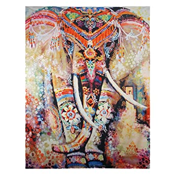 Nice Elephant Wall Hanging Tapestry, Ethereal Indian Elephant Hippie Mandala  Bohemian Magical Tapestry Wall Decor Tapestry