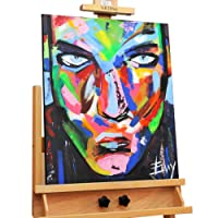Dipinto in acrilico 'volto' in 50x60cm | Quadro da parete dipinto in acrilico arte moderna