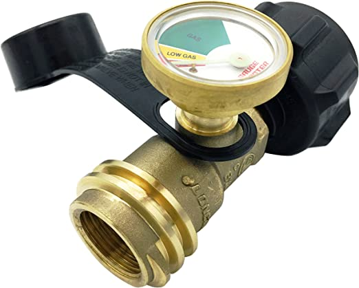 Gauge Master Premium Propane Tank Gauge Gas Meter - Cylinder Gas Level  Indicator Adapter - Suitable for All BBQ Grill, RV Camper & Appliances -  Type 1 ...
