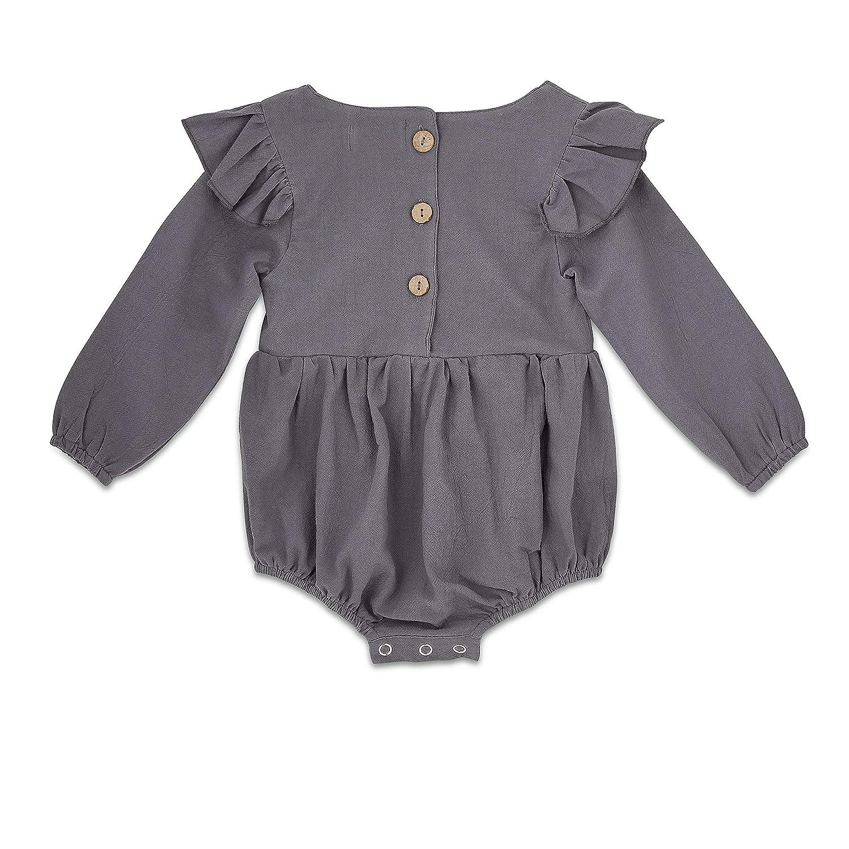88ab739b70a8 Amazon.com  Babe Basics Flutter Sleeve Fall Baby Romper