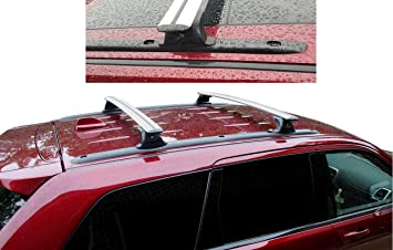 Amazon Com Brightlines Roof Rack Crossbars Compatible With 2011 2020 Jeep Grand Cherokee Altitude Srt With Roof Black Moldings Silver Automotive