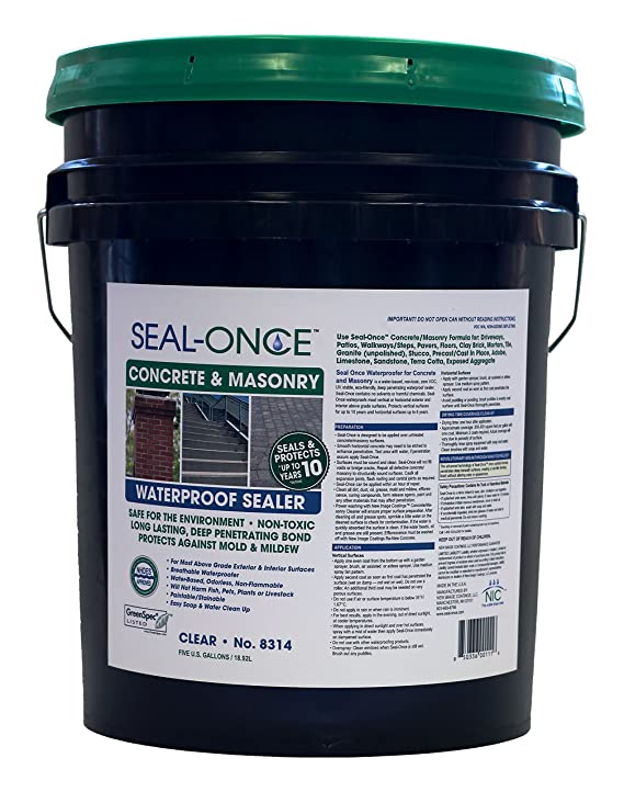 seal once concrete masonry waterproofing sealer 5 gallon amazon