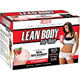 Labrada Nutrition Lean Body For Her Meal Replacement Powder, Strawberry, 1.7-Ounce Packets (Pack of 20)
