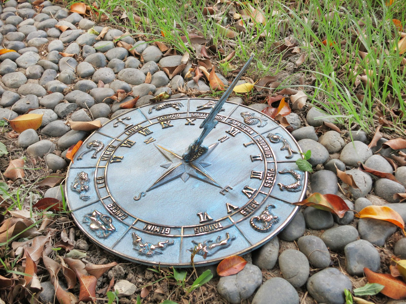Brass Constellations Sundial - 12'' Inches Wide (Avp)