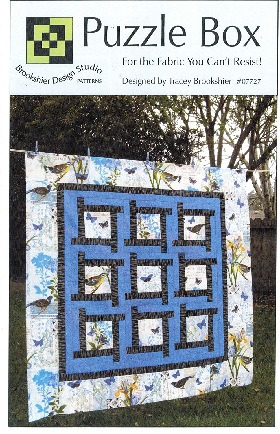 Puzzle Box Quilt Pattern, Pieced from Yardage, Three Size Options: 54x54, 72x72 and 96x96 Brookshier Design Studion