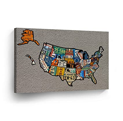 Rustic Us Map Wall Art Wood Carved United States Map With ...