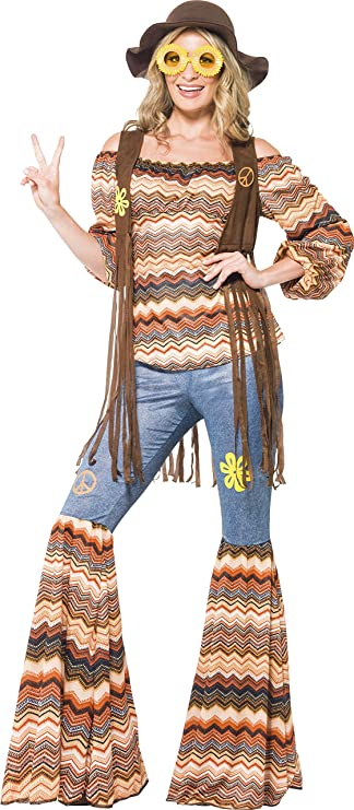 60s Costumes: Hippie, Go Go Dancer, Flower Child, Mod Style Smiffys Womens Harmony Hippie Costume $40.77 AT vintagedancer.com