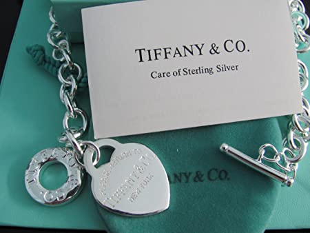 8644b66f8a1f Image Unavailable. Image not available for. Colour  Pre-owned Tiffany Co  Sterling Silver Heart Tag Necklace