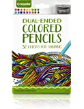 Crayola Dual-Ended Colored Pencils, Adult Coloring Tools, 36 Count