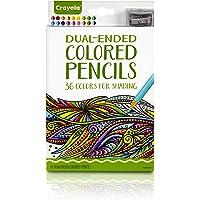 Crayola Dual-Ended Colored Pencils, 36 Colors + Bonus Sharpener Premium Art Tools, Compact Colored Pencil Set for Adult…