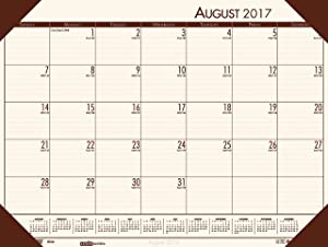 House of Doolittle 2017-2018 Academic Desk Pad Calendar, EcoTones, Cream, 18.5 x 13 Inches, August - July (HOD012541-18)