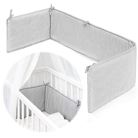 Fillikid - Tour de lit pour lit bébé cododo, berceau, couffin | Pourtour de  lit nouveau-né avec surface de couchage 90x40 cm, gris blanc à pois