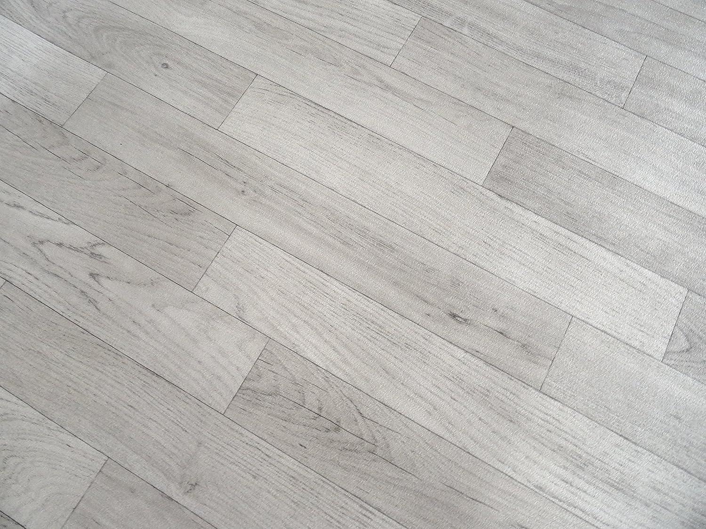 PVC in Holzplanken-Optik wei/ß von Alpha-Tex 9.95/€//m/² L/änge: 150 cm, Breite: 400cm
