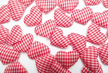 Karo Herzen Streudeko Rot Weiss Ca 3 5cm Ca 30 Stuck Tischdeko
