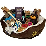 Dog hampers luxury puppy present easter gift amazon pet puppy hamper brown ideal gift for small dogs birthday or christmas negle Image collections