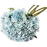 TYEERDEC Artificial Flowers 6 Bundles Artificial Silk Hydrangea Bouquet for Wedding Home Garden Hotel Party Decoration---Blue