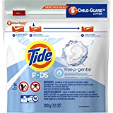 Tide PODS Free & Gentle HE Turbo Laundry Detergent Pacs, Unscented, 14 Count Bag - Packaging May Vary