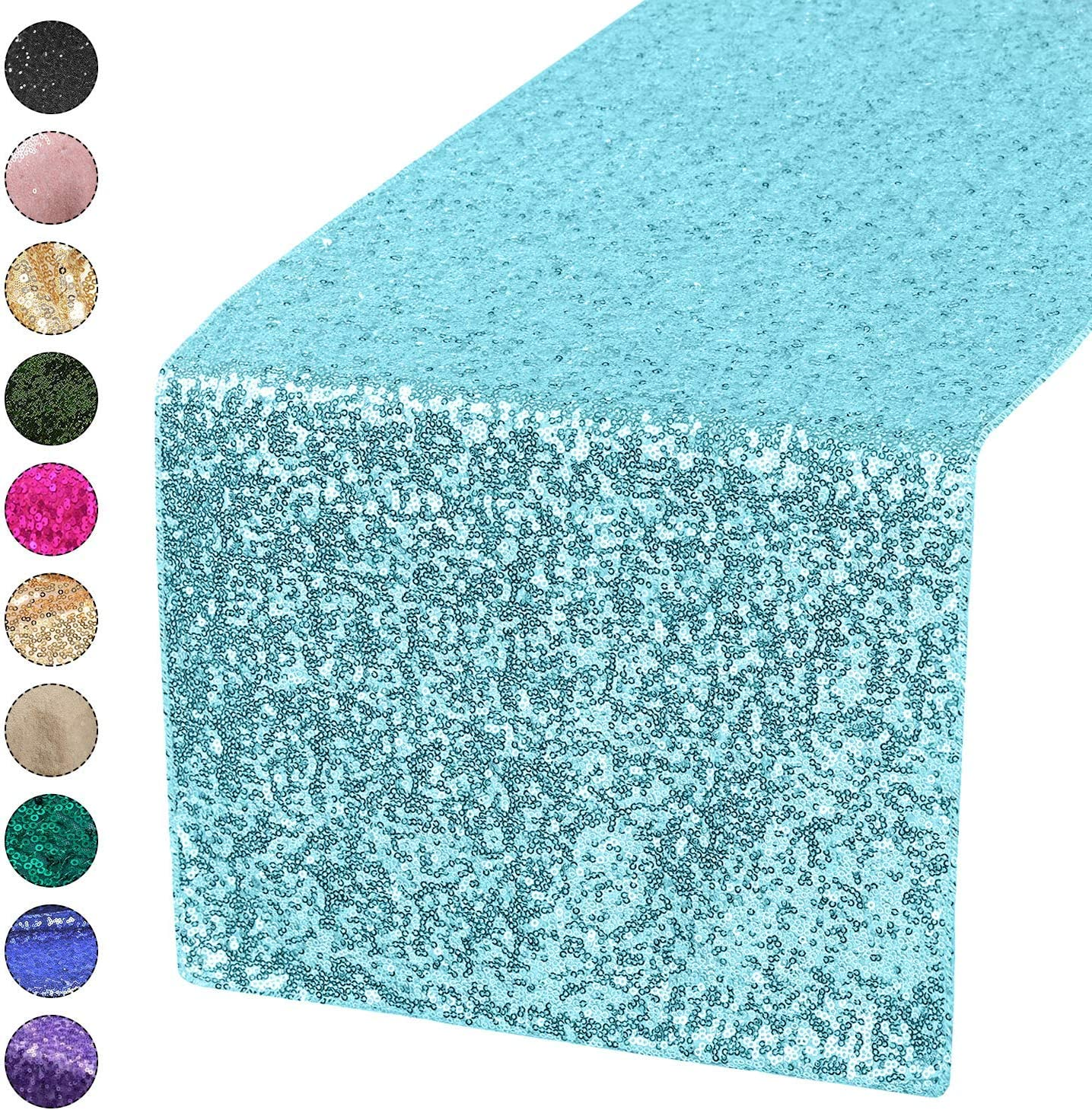 1 d/écoration de table Tissu Trimming Shop Lot de chemins de table sets de table /à paillettes 30 cm x 274 cm pour anniversaire fuchsia f/ête pr/énatale mariage /év/énements