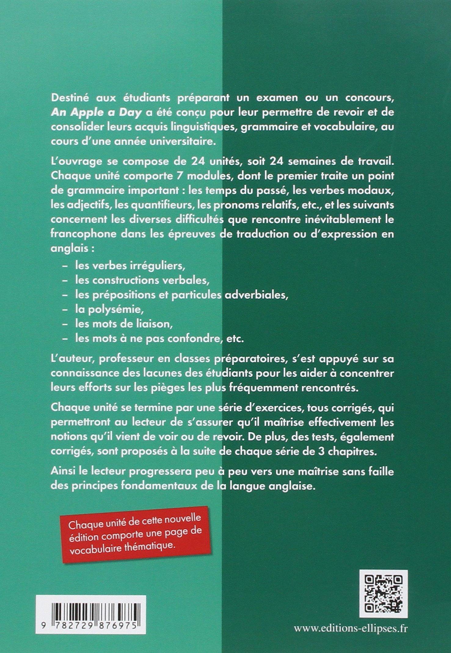 Amazon.fr - An Apple a Day l'Essentiel de la Grammaire et du Vocabulaire Anglais - Jean-Max Thomson - Livres