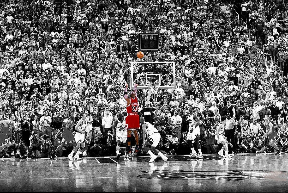 Michael Jordan Poster Last Shot 1998 Colorized (91,5cm x 61cm) + 1 ...