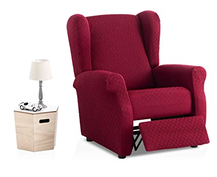 Bartali - Funda de sillón Relax elástica Olivia - Color Granate - Tamaño estandar