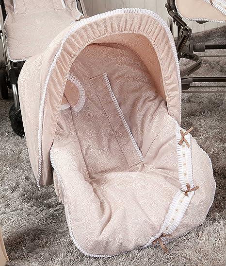 Babyline Bombón - Colchoneta para silla grupo 0, color beige