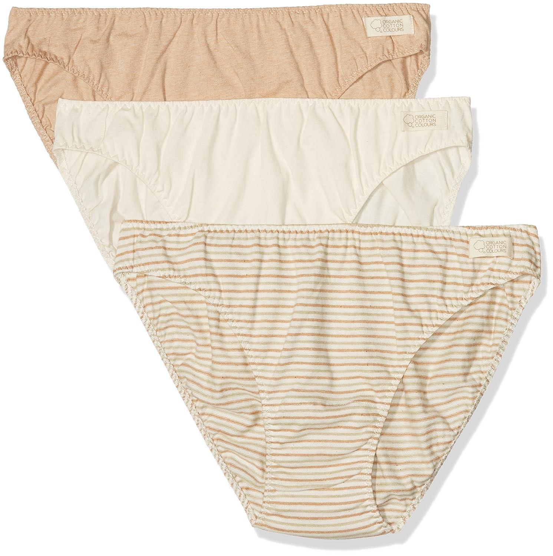Organic Cotton Colours Damen Bikinihose Braga Bikini Pack 3, 3