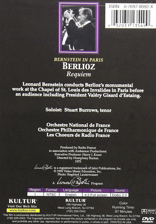 Amazon Com Bernstein In Paris Berlioz Requiem Leonard Bernstein  # Meubles De Tele Berlioz
