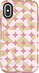 OtterBox SYMMETRY SERIES Case for iPhone Xs & iPhone X - Retail Packaging - MOD ABOUT YOU (PALE BEIGE/BLUSH/MOD DOTS)
