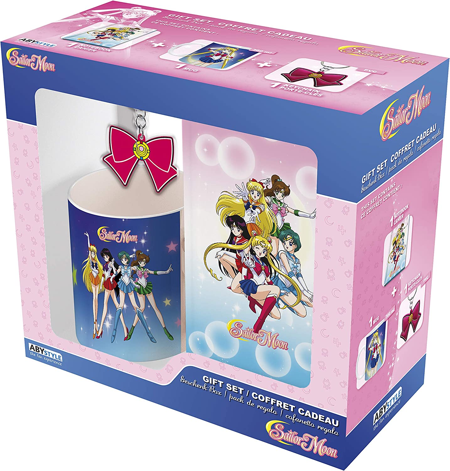 ABYstyle Abysse America Sailor Moon Gift Set - Coffee Mug Keychain & Notebook: Amazon.es: Hogar