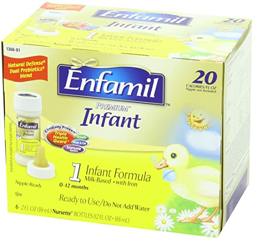 Amazon.com: Enfamil Infant Baby Formula - 2 Fl Oz 20 Calorie ...