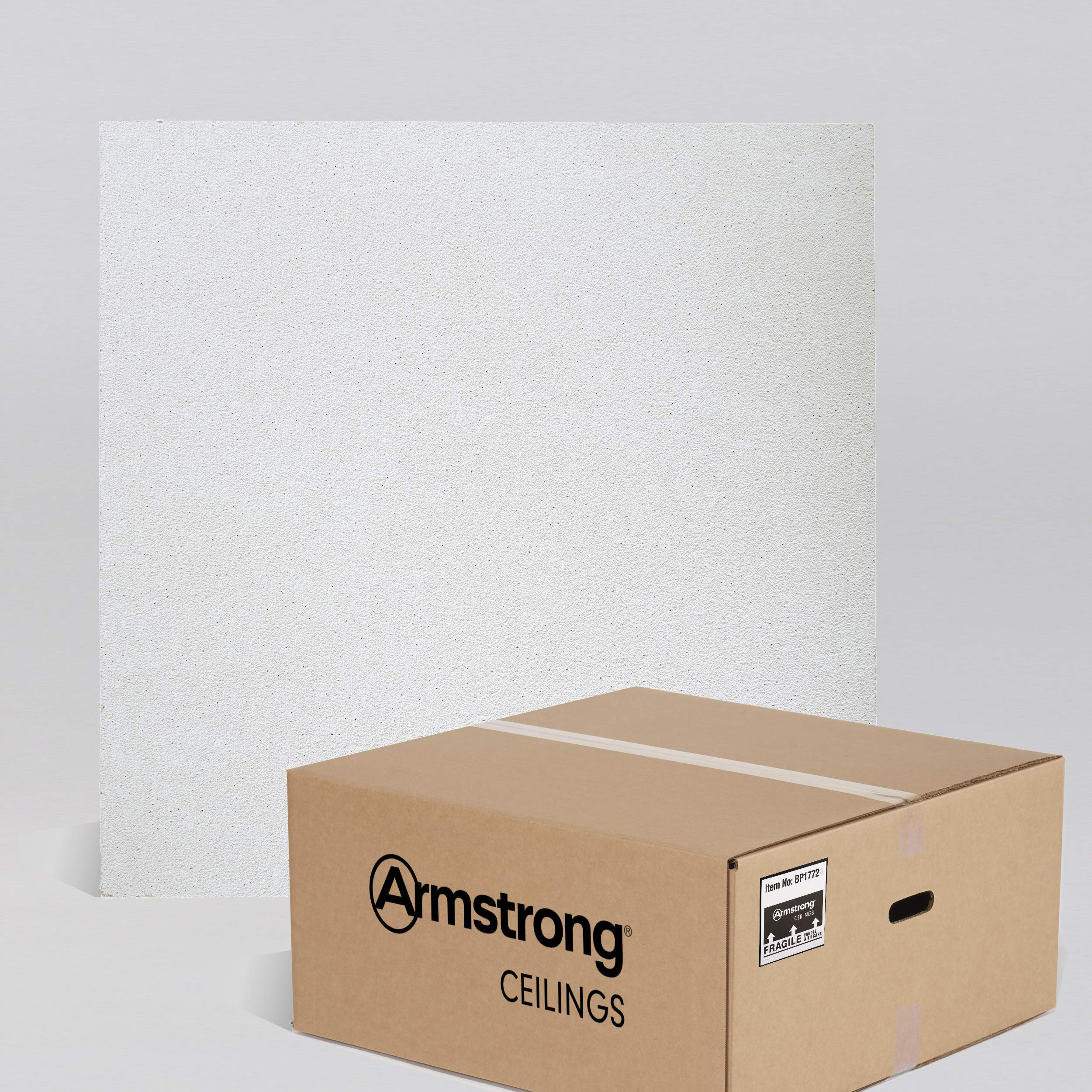 Armstrong Ceiling Tiles; 2x2 Ceiling Tiles - HUMIGUARD Plus Acoustic Ceilings for Suspended Ceiling Grid; Drop Ceiling Tiles Direct from the Manufacturer; DUNE Item 1772 - 16 pcs White Lay-in