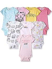 1638e8f8 Onesies Brand Baby Girls' 8-Pack Short-Sleeve Bodysuit