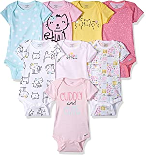 Amazon.com: Lily and Page Onesies Baby Girl, 5-Pack Bodysuit for ...