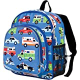 Wildkin Toddler Action Vehicles Backpack, Multi-Colour
