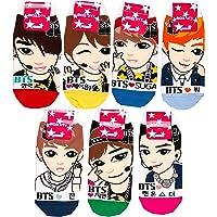 BTS Kpop Socks 7 Pairs (Jungkuk J-Hope Suga V Jin Jimin Rap Mon)
