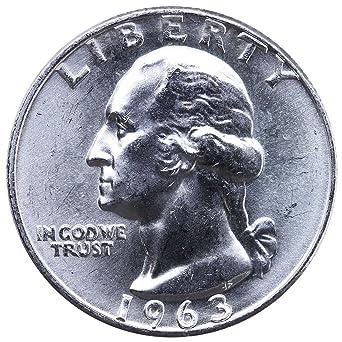 US Mint COin Gem 1963 Washington Silver Quarter Dollar