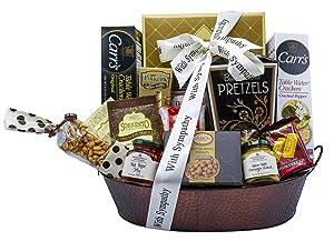 With Sincere Sympathy Condolence Gift Basket