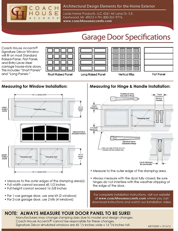 Garage door panel parts - Coach House Accents Simulated Garage Door Window 2 Windows Per Kit White Model Ap143199 Garage Door Hardware Amazon Com
