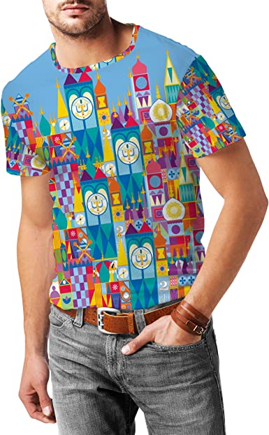 Its A Small World Disney Parks Inspired Mens Cotton Blend T-Shirt
