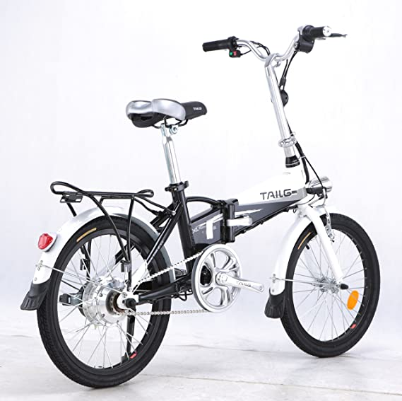 Bicicleta eléctrica plegable construido en la batería del acelerador Twist & Go tecnología - 1 año garantía, blanco: Amazon.es: Deportes y aire libre