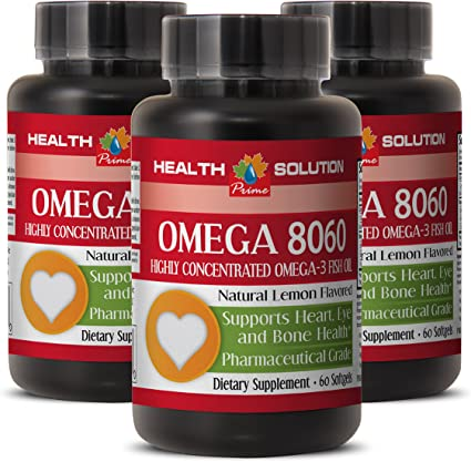 Amazon Com Omega 3 6 9 Fish Oil Supplement Omega 8060 Omega 3 Fatty Acids For Skin Care 3 Bottles Health Personal Care