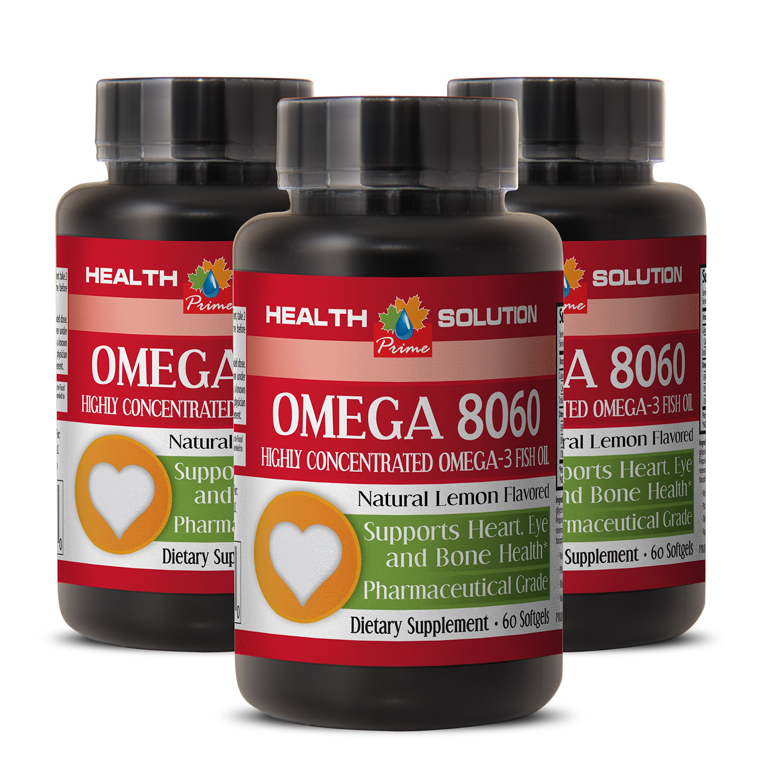 Omega 6 omega 3 omega 9 - OMEGA 8060 OMEGA-3 FATTY ACIDS - for eye health (3 Bottles) by Health Solution Prime