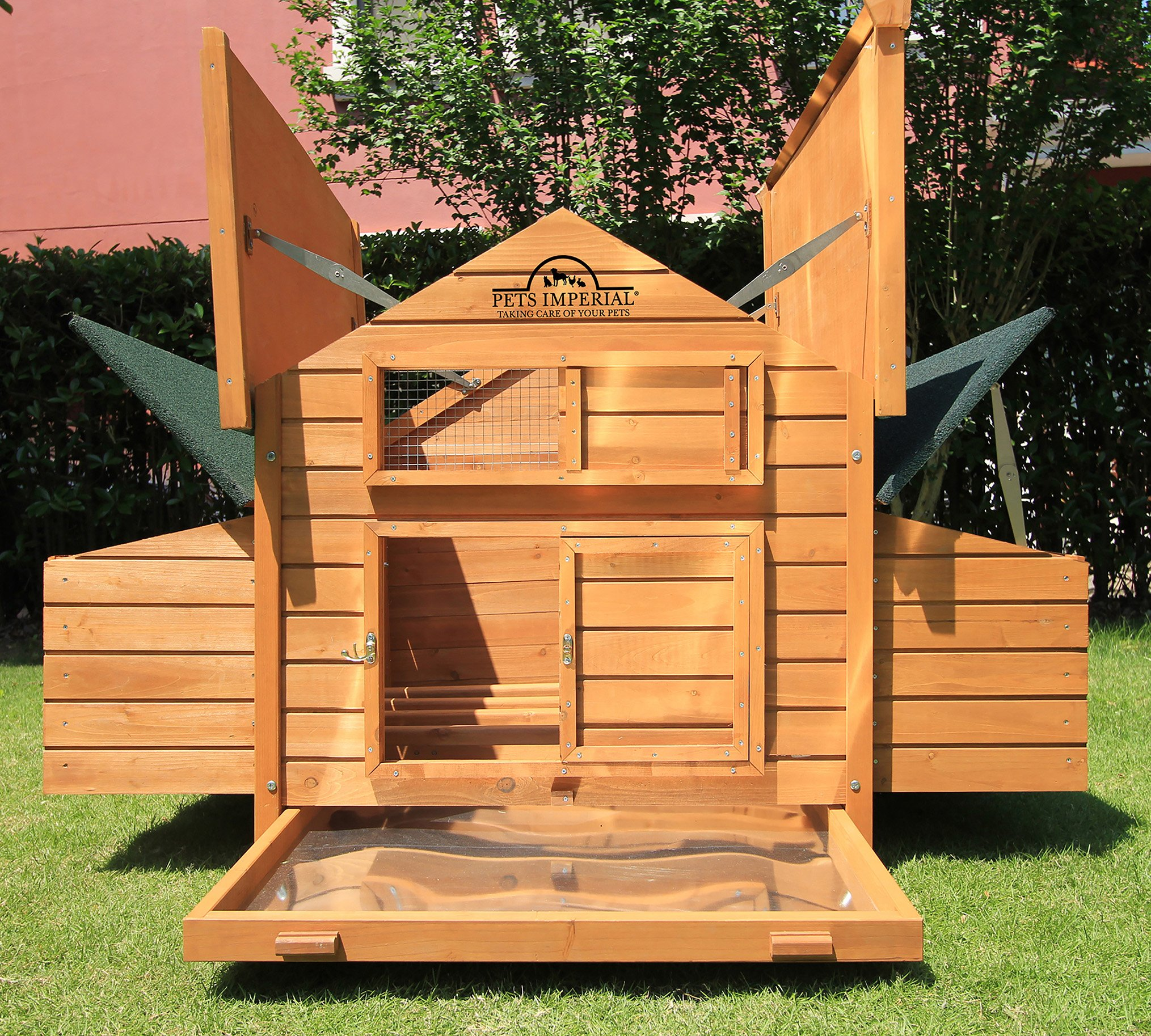 Pets Imperial Double Savoy Large Chicken Coop With 2 Nest Boxes Suitable Up To 10 Birds
