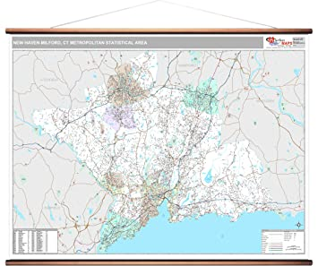 Amazoncom Marketmaps New Haven Milford Ct Metro Area Wall Map