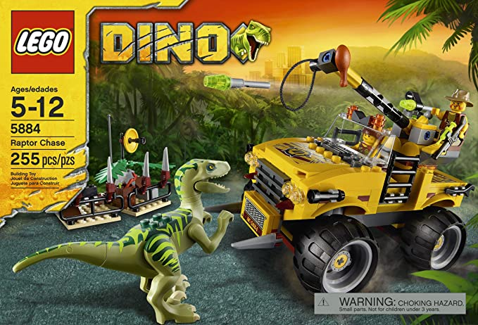 LEGO 5884 DINO Raptor Chase STICKER SHEET