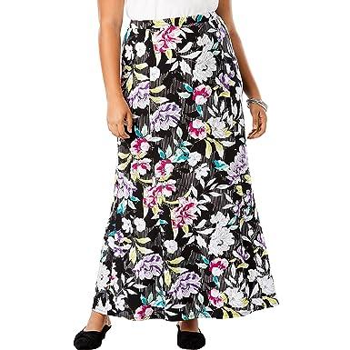 71ff993618 Jessica London Women's Plus Size Travel Knit Maxi Skirt at Amazon Women's  Clothing store: