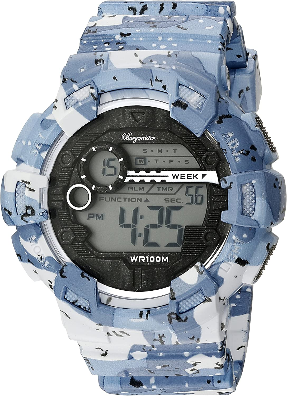 Burgmeister Reloj Digital para Hombre de Cuarzo con Correa en Plástico BM803-023
