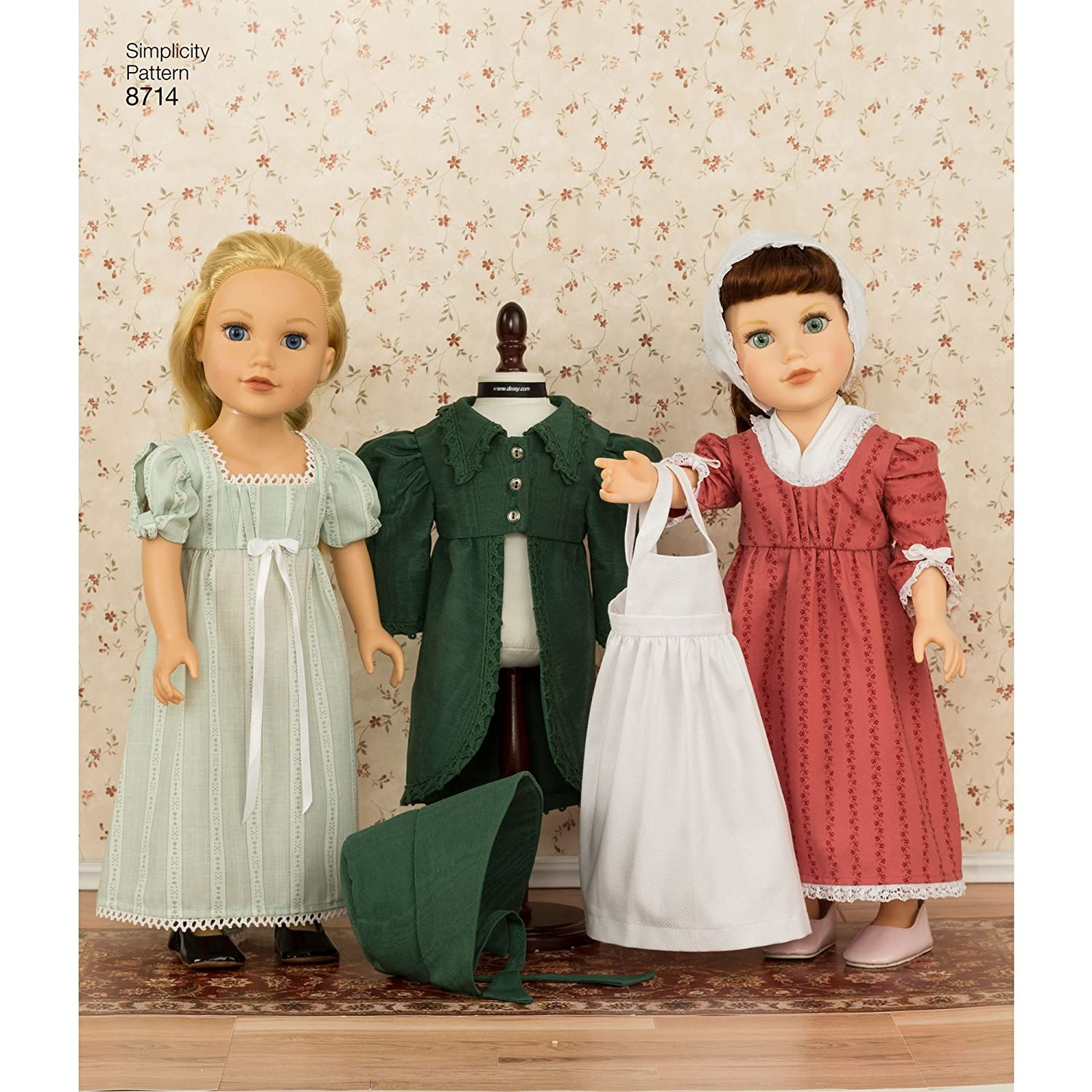 Simplicity Sewing Pattern 8714 OS 18-Inch Doll Clothes by Simplicity Creative Patterns One Size